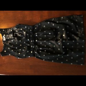 Elle Dresses - Black dress with silver polka dots. Worn 1x